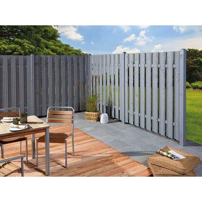 sichtschutzzaun element seattle grau 180 x 180 cm kaufen bei obi. Black Bedroom Furniture Sets. Home Design Ideas