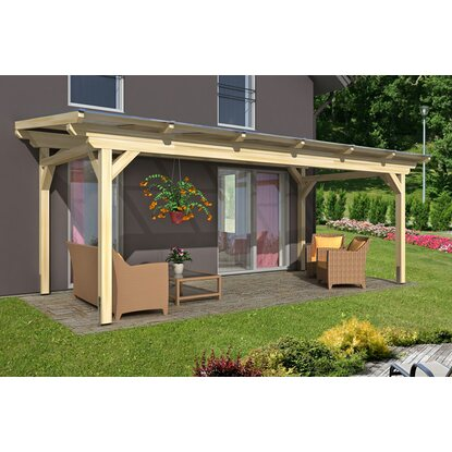 skan holz terrassen berdachung sanremo b x t 648 cm x 350 cm leimholz natur kaufen bei obi. Black Bedroom Furniture Sets. Home Design Ideas