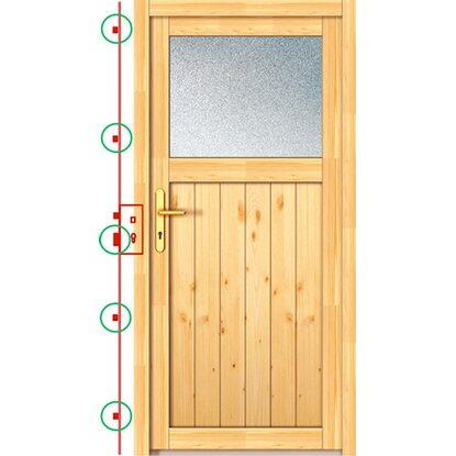 Holz nebeneingangst r 88 cm x 200 cm net 504 88 din links for Fenster 200 x 100