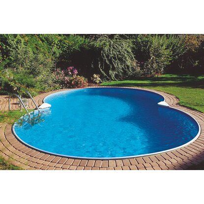 Stahlwand Pool-Set Colorado Einbaubecken Achtform  625 cm x 360 cm x 120 cm