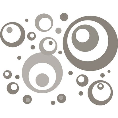 Eurographics Wandtattoo Brown Grey Bubbles 50 cm x 70 cm
