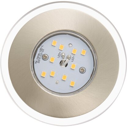 Briloner LED-Einbauleuchte 3er-Set Nickel matt starr EEK: A+