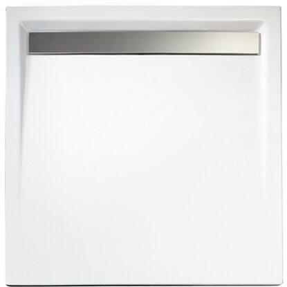 schulte duschwanne quadrat extra flach mit rinne alpinwei 100 cm x 100 cm kaufen bei obi. Black Bedroom Furniture Sets. Home Design Ideas