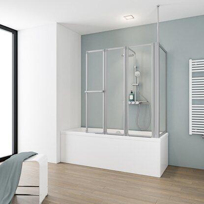 schulte badewannenaufsatz 4 teilig mit seitenwand. Black Bedroom Furniture Sets. Home Design Ideas