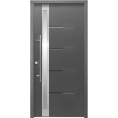 Aluminium-Haustür 110 cm x 210 cm ThermoSpace OS8A Anthrazit Anschlag Links