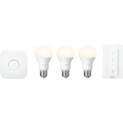 Philips Hue LED-Lampe White Starter Kit E27/9,5 W EEK: A+