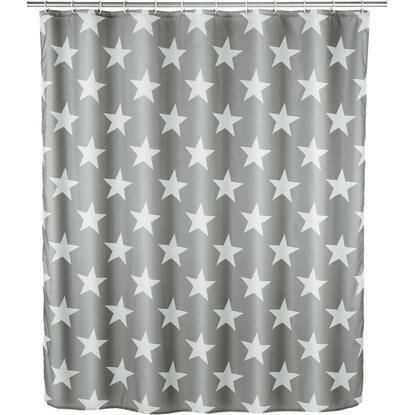 Wenko Anti-Schimmel Polyester Duschvorhang Stella 180 cm x 200 cm