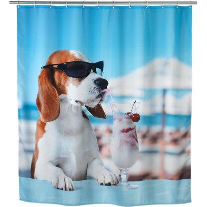 Wenko Polyester Duschvorhang Cool Dog 180 cm x 200 cm