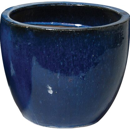 M Collections Pflanzgefäß Egg Pot Ø 23 cm Blau