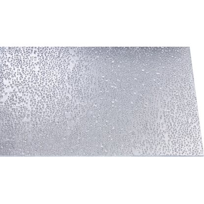 "Polystyrol-Platte 5 mm ""Tropfen"" Transparent 1000 mm x 1000 mm"