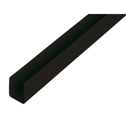 u profil schwarz 10 mm x 18 mm x 1000 mm kaufen bei obi. Black Bedroom Furniture Sets. Home Design Ideas
