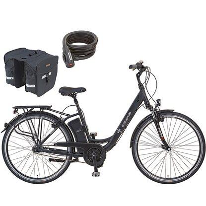 prophete e bike alu city 28 magura hs11 inkl packtasche. Black Bedroom Furniture Sets. Home Design Ideas