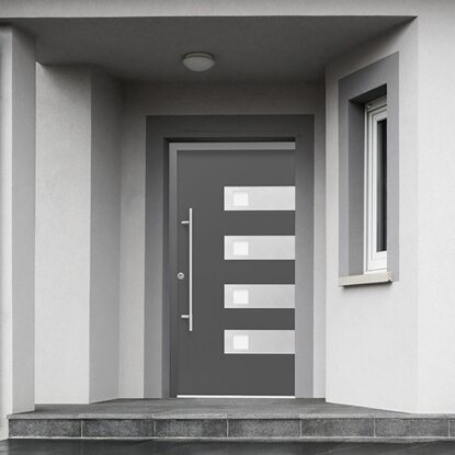 Splendoor Haustür ThermoSpace Bern RC2 Komfort Anthrazit 210 x 110 cm Links