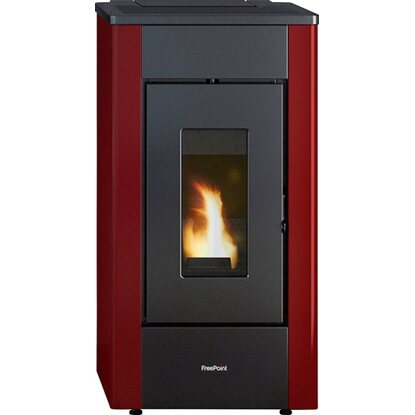 Freepoint Pelletofen Sharp Stahl Bordeaux 7 kW EEK: A+