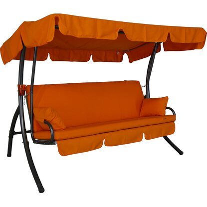 Angerer Hollywoodschaukel Element Detroit 3-Sitzer mit Liegefunktion Orange