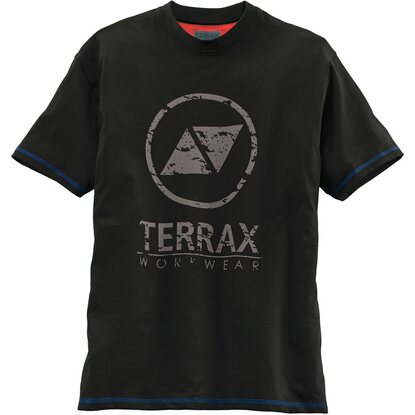 Herren T-Shirt Schwarz-Royal Gr. XL