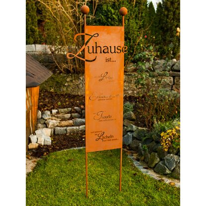 Ferrum Art Design Gartenstecker Zuhause 205 cm