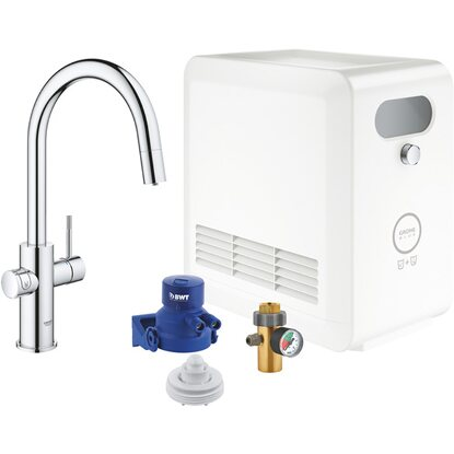 Grohe Mono Armatur Set Blue Professional Chrom