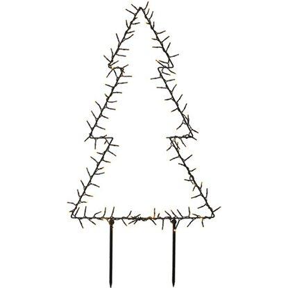 led weihnachtsbaum 124 cm schwarz kaufen bei obi. Black Bedroom Furniture Sets. Home Design Ideas