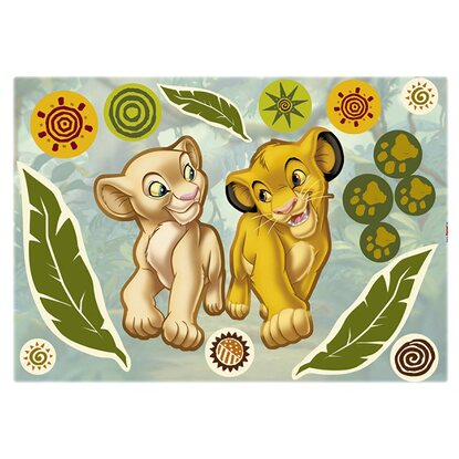 "Deco-Sticker ""Simba and Nala"" 50 x 70 cm"