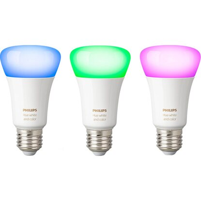 Philips Hue LED-Lampen White & Color 3er-Set RGBW E27/ 9,5 W EEK: A+