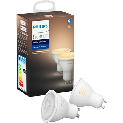 Philips Hue White LED-Lampe GU10 Doppelpack 2 x 5,5 W Bluetooth EEK: A+
