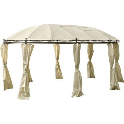 obi pavillon ovar beige 350 cm x 530 cm kaufen bei obi. Black Bedroom Furniture Sets. Home Design Ideas