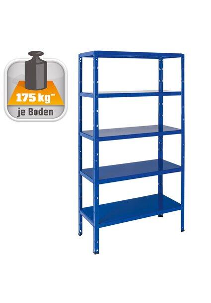 Metall-Steckregal dunkelblau 180 x 90 x 40 cm
