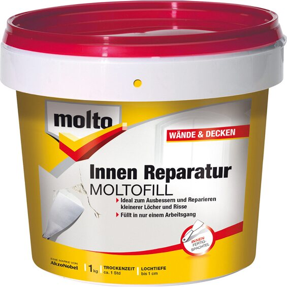 molto reparatur moltofill innen fertigspachtel 1 kg im obi. Black Bedroom Furniture Sets. Home Design Ideas