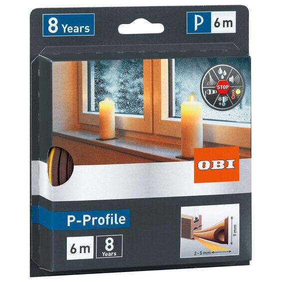 obi t r und fensterdichtung aus gummi p profile braun im obi online shop. Black Bedroom Furniture Sets. Home Design Ideas