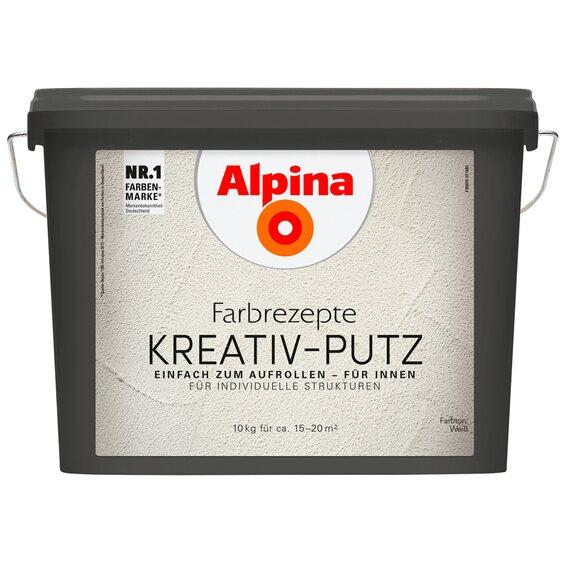 alpina farbrezepte kreativ putz wei 10 kg im obi online shop. Black Bedroom Furniture Sets. Home Design Ideas