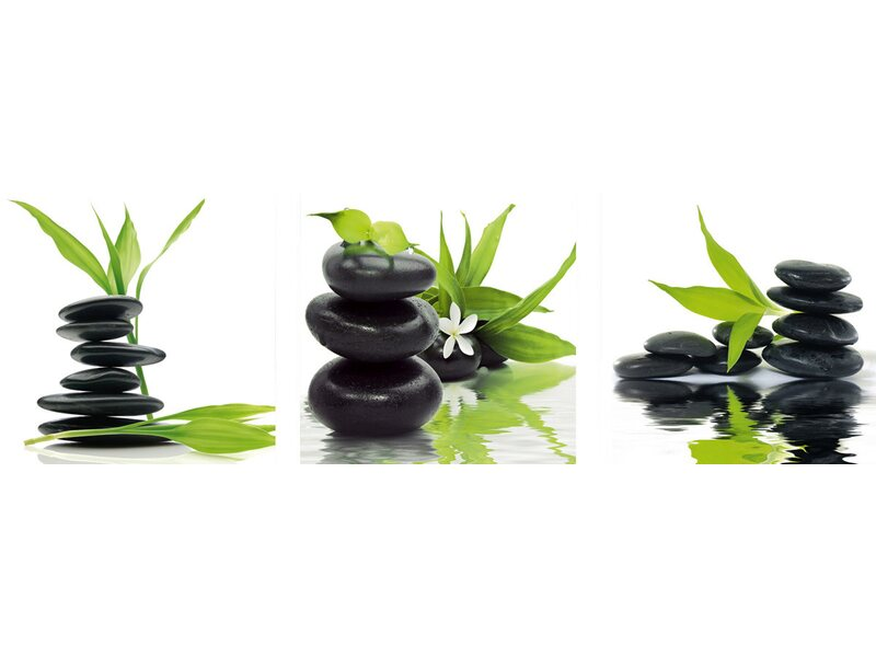 eurographics wandtattoo 3er set feng shui balance in green kaufen bei obi. Black Bedroom Furniture Sets. Home Design Ideas