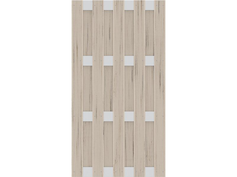 sichtschutzzaun element jumbo wpc 95 cm x 179 cm alu sand kaufen bei obi. Black Bedroom Furniture Sets. Home Design Ideas
