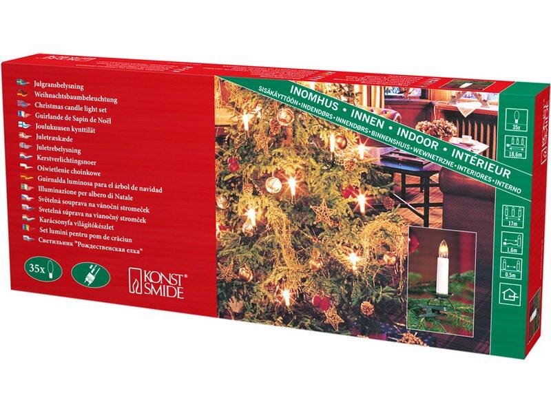 Konstsmide Baum Lichterkette 35 Warmweiße Topbirnen 230 V Innen