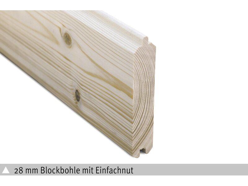 Holz-Gartenhaus Venlo 1 290 x 290 cm Schwedenrot kaufen bei OBI