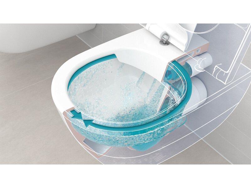 Villeroy & Boch Wand-WC-Set Targa Tiefspüler Weiß spülrandlos kaufen ...
