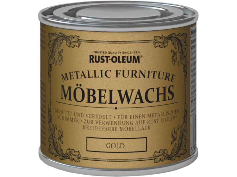 rust oleum kreidefarbe m belwachs politur metallic gold. Black Bedroom Furniture Sets. Home Design Ideas