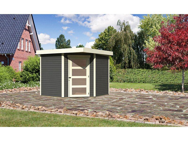 Karibu Holz Gartenhaus Linkobing 5 Terragrau B X T 238 Cm X 242 Cm Kaufen Bei Obi