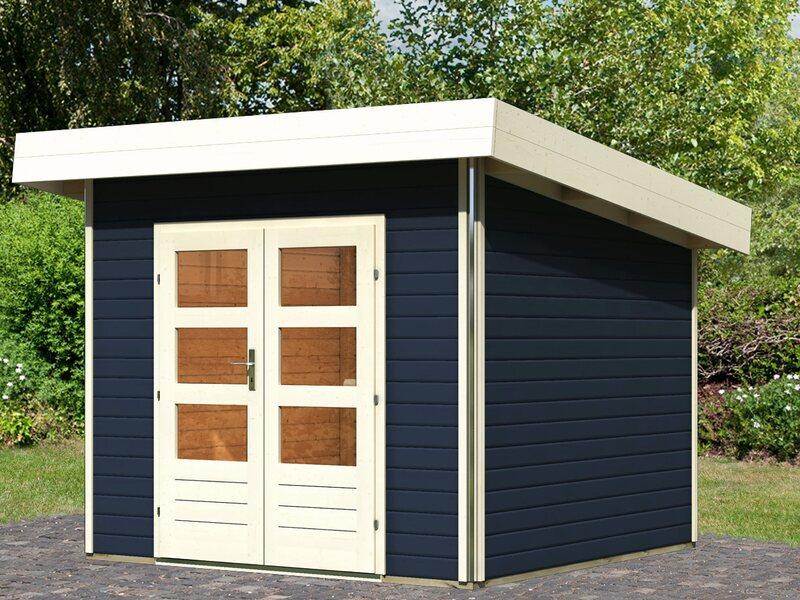 holz gartenhaus h je 1 opalgrau 259 cm x 259 cm kaufen bei obi. Black Bedroom Furniture Sets. Home Design Ideas