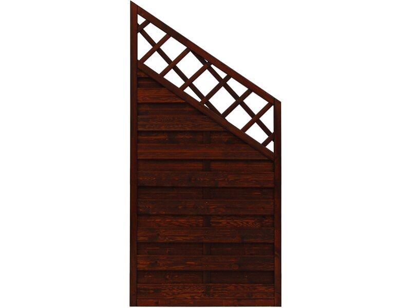 sichtschutzzaun anschlusselement country braun 180 x 120 cm auf 90 cm kaufen bei obi. Black Bedroom Furniture Sets. Home Design Ideas