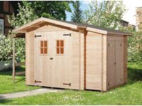 karibu holz gartenhaus norberg natur b x t 245 cm x 177 cm kaufen bei obi. Black Bedroom Furniture Sets. Home Design Ideas