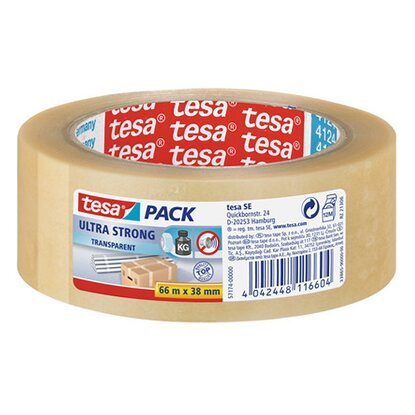 tesa Verpackungsband Ultra Strong 66 m x 38 mm Transparent