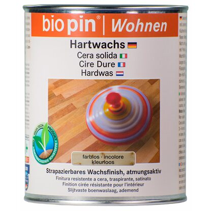 Biopin Natur-Hartwachs Transparent 750 ml