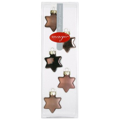 Magic Glasornament Stern 5-tlg. 40 mm Elegant Lounge