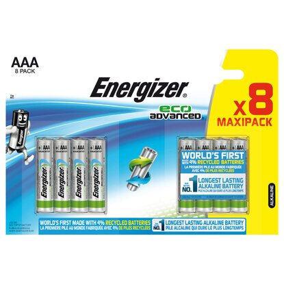 Energizer Eco Advanced  Micro Batterie AAA 8 Stück