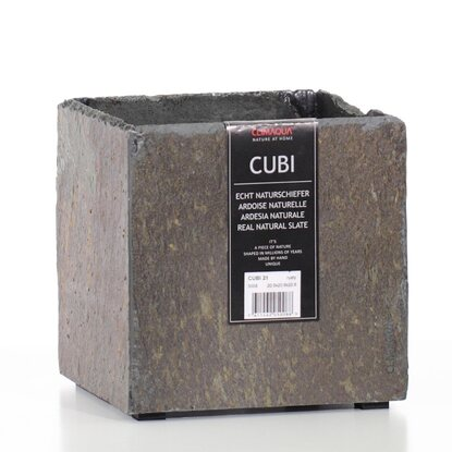 Climaqua Gefäss Indoor Cubi 21 Rusty 210 mm