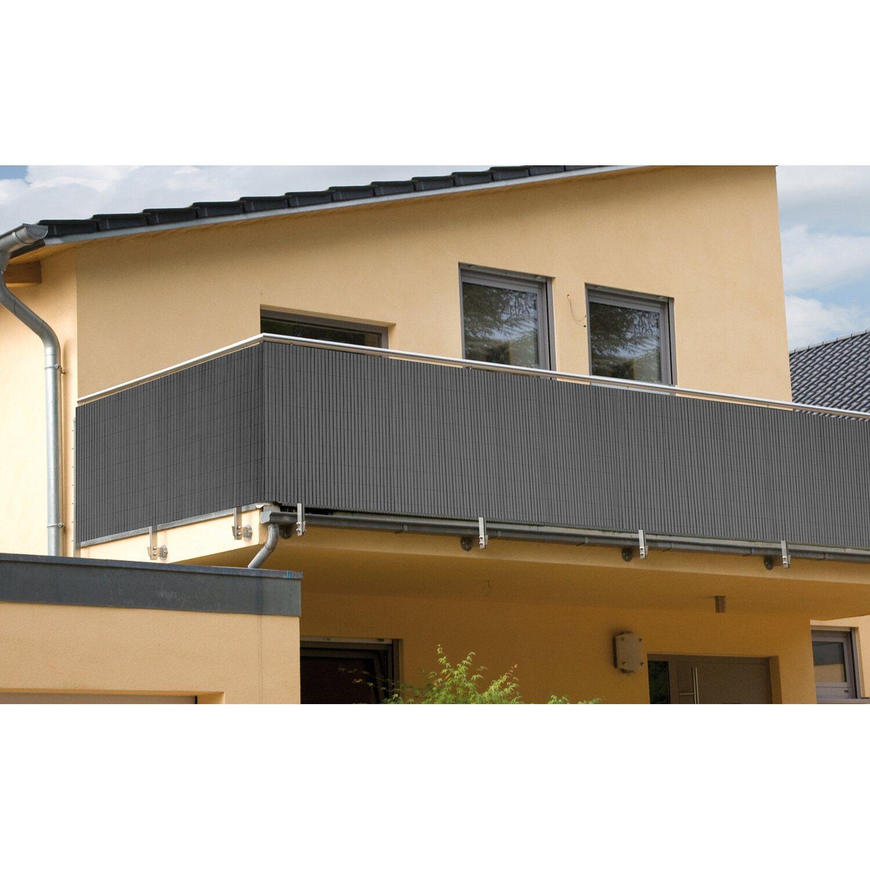 balkonverkleidung comfort anthrazit 180 cm x 300 cm kaufen bei obi. Black Bedroom Furniture Sets. Home Design Ideas
