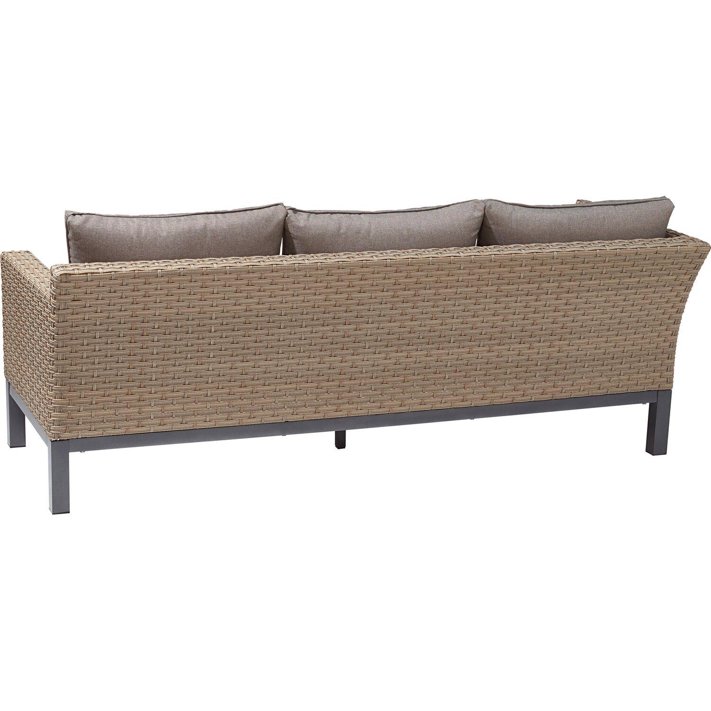 OBI Lounge-Gruppe Brogan 5-tlg. Ash mit quadratischem Tisch kaufen ...