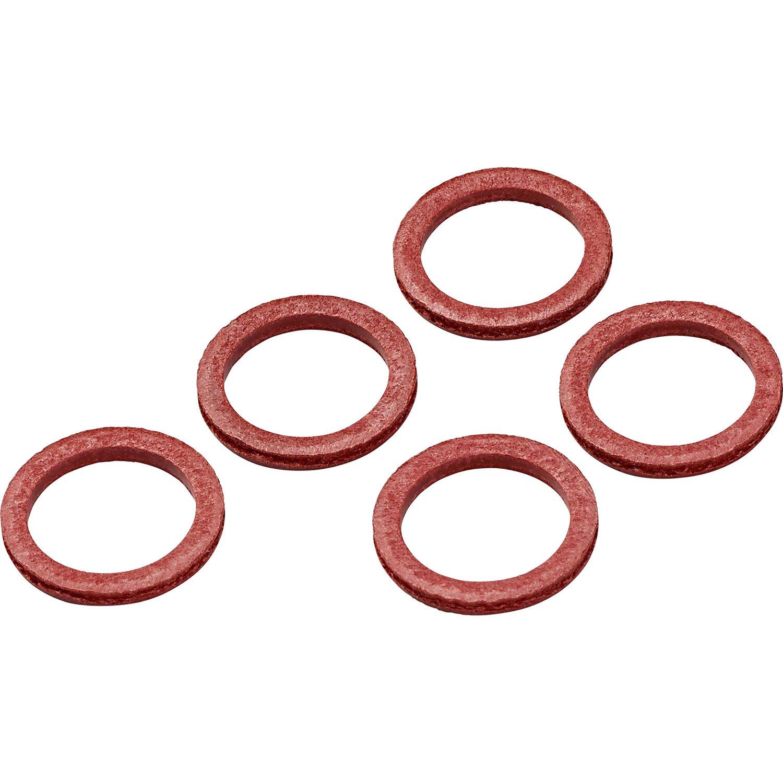10 St/ück Fiber Flachdichtringe 8 x 14 x 1.5 mm Flachdichtung Dichtring