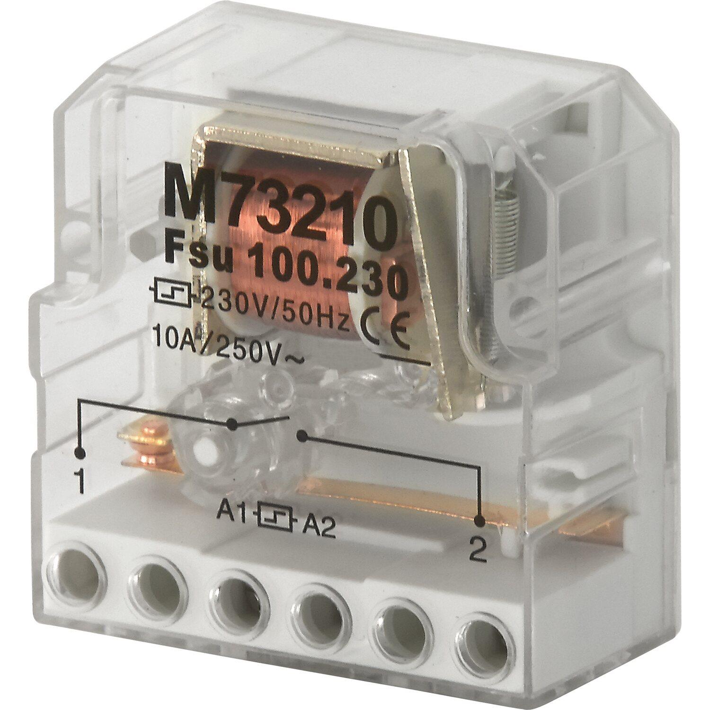 Stromstoßschalter 250 V 10 A Transparent